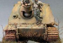 Mix of military dioramas / Diorama