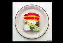 Arte Comestível / Pins de momentos em que comida + criatividade = arte.