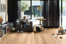 LIVING ROOM inspiration / THE BEAUTY OF #QUICK-STEP #FLOORS IN YOUR #LIVING #ROOM