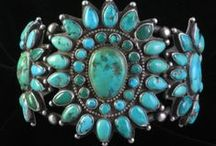 Turquoise / Turquoise is a magical stone. It is the most lovely bright blue green and the birthstone for December. It has been used in jewelry and artifacts since ancient civilizations.