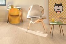 Trendy interiors / The key to the trendy look of today, whether you go for vintage, industrial or urban chic, is to combine the right kind of floor with fresh, bold colors and iconic design elements
