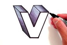 V / My initial, the letter V.