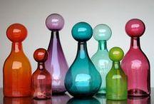 Glass Bottles / Colorful art glass bottles.