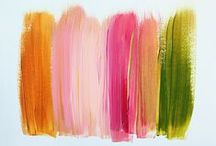Colors / Lovely color swatch paintings