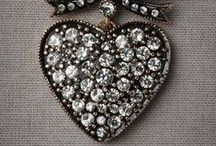 Hearts so Sparkly / Heart shaped jewelry and gems.