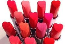 Hearts in Beauty / Heart shaped cosmetics, compacts and accesories related to beauty.