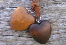 Hearts of Wood / Hearts made out of wood.