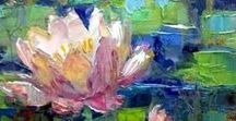 Art: Water Lily Paintings / Paintings about Water Lilies