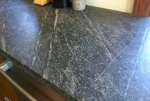 Historical Natural Soapstone Countertops /  Historically soapstone has been used in this country since colonial times for sinks and counter material. If you're looking for a functional, historic and pleasing material.
