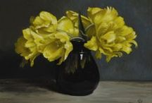 Flowers / Still lifes featuring flowers by James Gillick