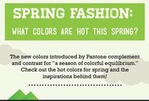 Spring Fashion: What colors are hot this spring? / The new spring fashion colors introduced by Pantone complement and contrast. Check out the hot colors for spring and the inspirations behind them!  http://www.thingzcontemporary.com/blog/spring-fashion-colors-hot-spring/