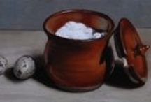 Ceramics / Still life paintings featuring china, stoneware & earthenware