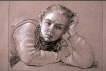 James Gillick Drawings / Pencil & chalk drawings on Ingres paper by James Gillick