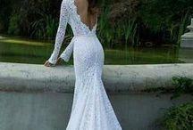 Wedding Gown , Maxi dress, Bohemian dress / Wedding Gown , Maxi dress, Bohemian dress, Bridal dress, bridal gown, crochet wedding dress, knit dress, Statement lace dress, flower wedding