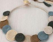 Crochet Boho Hippie Jewelry / Crochet Boho, Hippie Jewelry, Crochet necklace, collar, gypsy accessories, folk, festival, boho jewelry