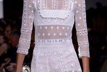 White Crochet Clothing / #white #crochet #clothing #whitedress #crochetdress #white #beachwear #white lace #white hat accessories