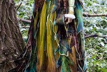 Shabby chic, Tattered dress. Woodland Forest Fairy dress. / #shabbychic, #tattereddress, #cottagechic, #fantasy, #fairydress, #woodlandfairy, #shabby #forest #woodland #платья #фея #festivaldress, #festivalcostume