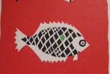 Illustration Art - Fish / Illustrations, lino cuts, watercolour paintings and graphic illustrations of fish.