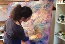 Schilderijen Juana Delgado Cruz / Deze board toont enkele werken van de Spaanse kunstenares Juana Delgado Cruz