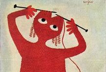 Illustration Art - Knitting