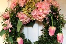 Wreath and natural decorations