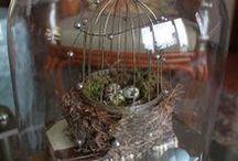 Under the Dome/ Birdcage/Flower frog