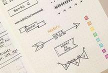 bullet journal inspiration / bullet journal planner