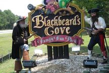 Pirates / Pirates of all shapes and sizes set sail at Blackbeard's Cove.