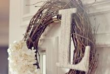 Decor for your Door on Pinterest / Fun ways to decorate your doors including paint colors, wreathes and other welcoming ideas to make your doors stand-out.