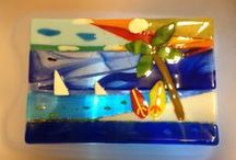 MindfulConfetti - My Art / My art I've created - all my fused glass is safe for serving or eating food (bowls, trays, plates)