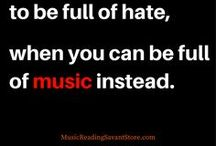 Music Quotes / All of the best music quotes and sayings to brighten your day! Lyrics from your favorite artists and bands, playlists, and a whole lot of humor to bring you the ultimate music inspiration experience.