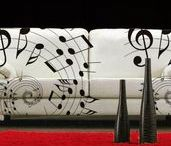Home Decor Ideas   Music / Here are some home decor ideas with a music twist. Make your home, apartment or music studio cozy on a budget. Perfect for music teachers, musicians and music lovers.