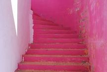 Stairs / different beautiful indoor and outdoor painted and styled stairs