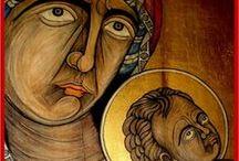 ΑΓΙΟΓΡΑΦΙΕΣ.....AGIOGRAPHIES....ICONS / Εικόνες  Αγίων...σε ξύλο...πέτρα και κεραμίδες....Ζωγραφική:Γιάννης  Διαμαντάκης Painting John Diamantaki