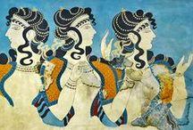ΜΙΝΩΪΚΗ ΖΩΓΡΑΦΙΚΗ...MINOAN PAINTING / Μινωϊκές τοιχογραφίες...Minoan frescoes ...[ ΚΡΗΤΗ....ΜΥΚΗΝΕΣ και  ΣΑΝΤΟΡΙΝΗ ]