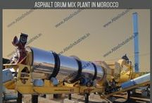 Stationary asphalt drum mix plant / The pictures are of stationary asphalt drum mixing plant