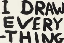 Drawing (line) / Desenhos onde predomina a linha como meio gráfico expressivo / by Manuel San Payo