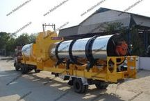 90-120 tph mobile asphalt drum mix plant
