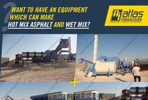 Combined asphalt drum mix and wet mix plant.