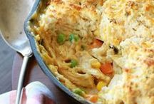 Casseroles/One Pot Meals/Salads As Meals / Time, money,and sanity saving recipes. / by Susan foster