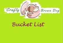 Bucket List / Places to go, things to see and do