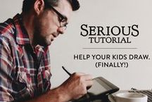 Serious Tutorials / Brady Black's easy step-by-step drawing tutorials that will take your imagination on an adventure.