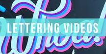 Lettering Videos / See lettering work of art made in action using our popular chalk markers & water brush pens.