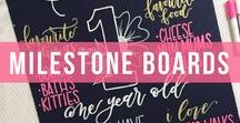 Milestone Boards / See how Kassa Chalk Markers are perfect for all the major milestones in their lives.