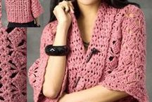 Crochet - tops, boleros, sweaters, cardigans and ponchos