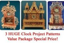 Clock Patterns for the Scrollsaw / Here are some great scroll saw patterns for clocks.  Everything from beginner to expert.  Great for gifts, or to make an heirloom that will last for generations.