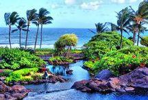 "Kauai, Hawaii, North America / Kauaʻi or Kauai is geologically the oldest of the main Hawaiian Islands. With an area of 562.3 square miles (1,456.4 km2), it is the fourth largest of the main islands in the Hawaiian archipelago, and the 21st largest island in the United States.[3] Known also as the ""Garden Isle"", Kauaʻi lies 105 miles (169 km) across the Kauaʻi Channel, northwest of Oʻahu. This island is the site of Waimea Canyon State Park."