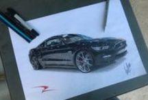 Desenhos Gui / Carros desenhados por meu lindinho irmão Guilherme.