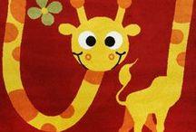 Giraffen fürs Kinderzimmer und mehr / Giraffenfans aufgepasst: hier findet man nicht nur schöne Teppiche von Havatex mit einer süßen Giraffe, sondern auch andere Produkte mit den lustigen Langhälsen.