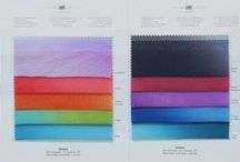 Color Cards and Swatches / Our color cards and swatches are ideal for examining the hand feel and true color of our fabrics before purchasing yardage.  Each contains full representation of color choices available through our stock program.  Perfect for color matching and made to fit into a 3-ring binder for easy storage and reference!